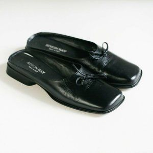Leather Square Toe Slip On Leather Flats